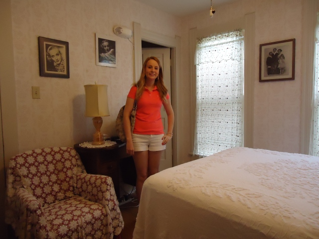 Me standing in the Jane Alice Peters Room