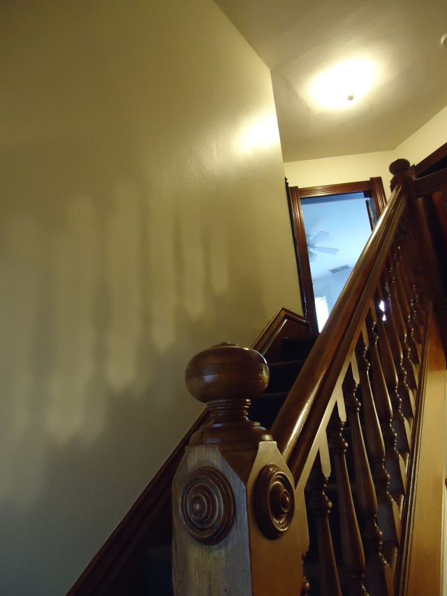 The room at the top of the stairs is Carole's.