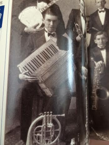 Jimmy Stewart on his accordion, personal collection.