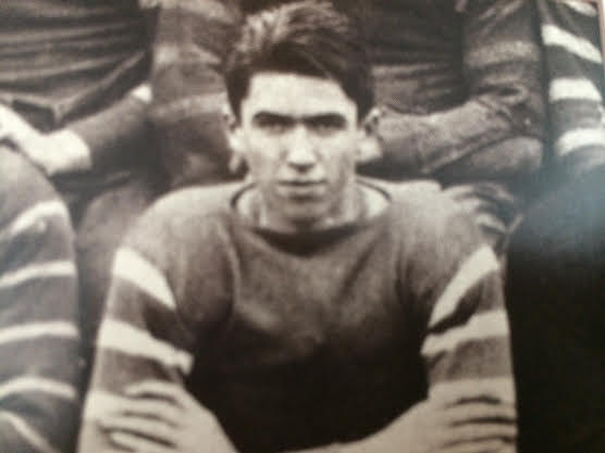 Jimmy on the football team, personal collection.
