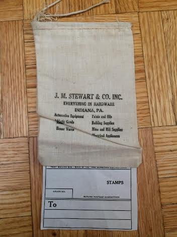 Stewart Hardware purchase bag, from my personal collection.