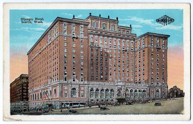 Postcard Olympic Hotel, Seattle, Washington