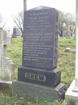Grave of Louisa Lane Drew.