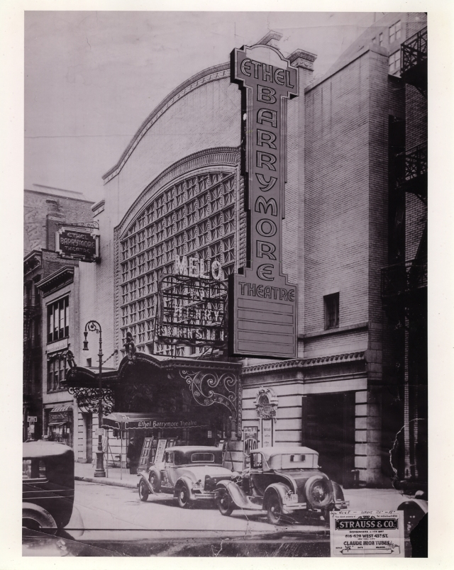 Barrymore Theatre (1931) Exterior Property of Shubert Archive
