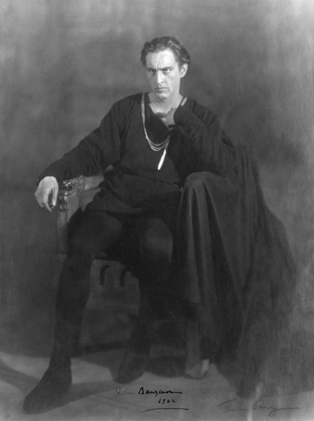 John as Hamlet, 1922.