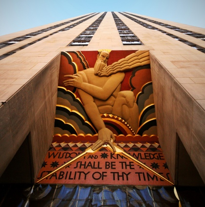 Art-Deco-motif-Rockefeller-Center-entrance