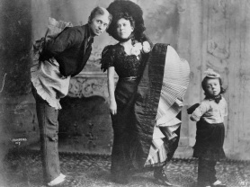Buster Keaton as a child with his parents Joe and Myra