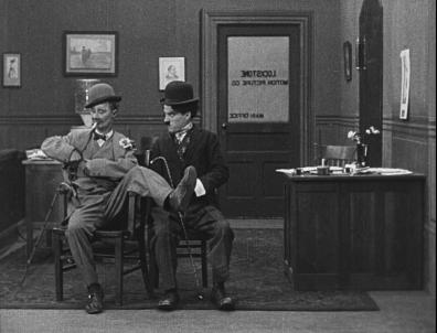 Ben Turpin and Charlie Chaplin - His New Job (1915)