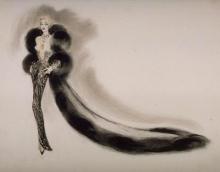 Marlene Dietrich + Jean Louis sketch 2