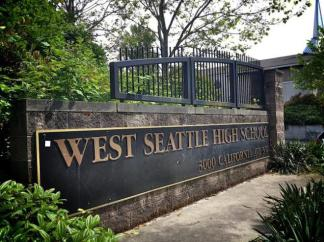 west-seattle-high-school-sign
