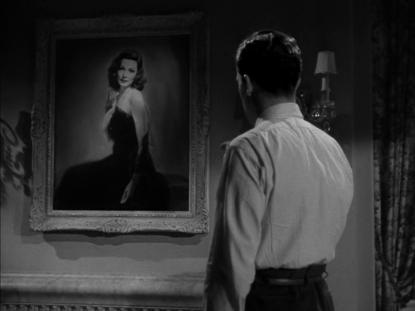 Gene Tierney + Dana Andrews painting - Laura (1944)