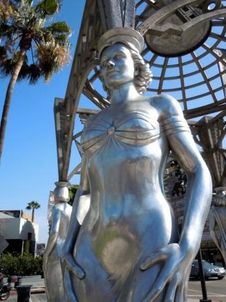 Dolores Del Rio silver statue